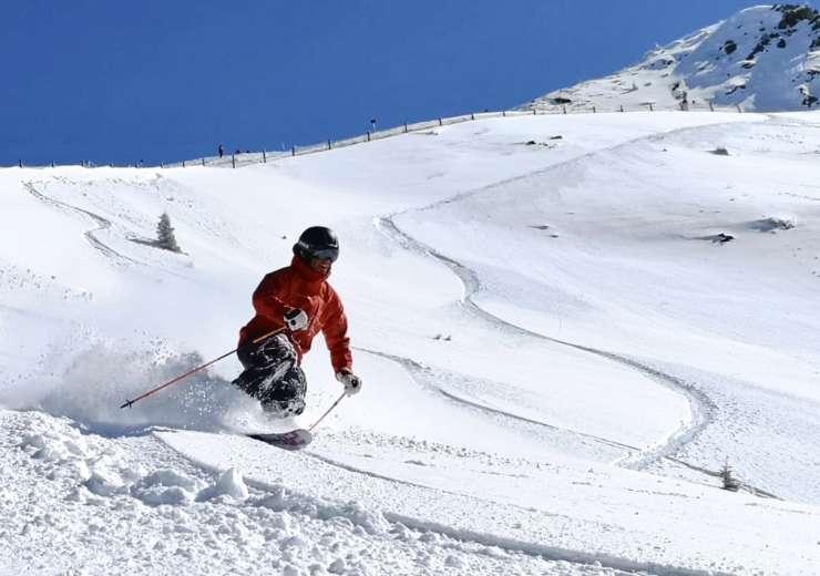 Telemark skiing technique